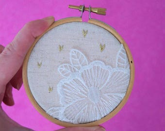 Lace Wedding Love Embroidery Hoop