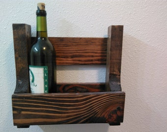 Rustic wine rack wall decor