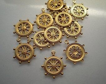 12 ships wheel charms