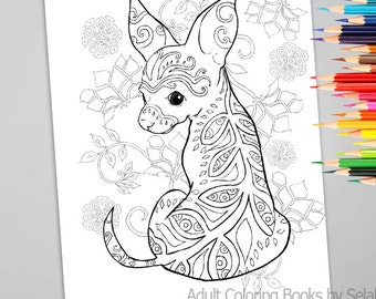 Adult Coloring Book Page From Coloring Book For Adults Dogs