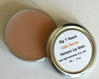 "All Natural Lip Balm - ""Cake Batter""- Tin - Lip Tint - Free U.S. Shipping"