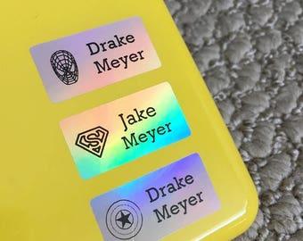 Dishwasher safe labels Waterproof labels Name labels School labels Daycare labels School name tags Name stickers Baby bottle labels Hologram