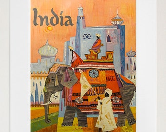 India Art Vintage Travel Poster Print Indian Home Wall Decor (XR391)