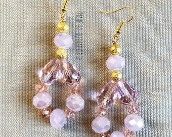 Pink Princess crystal shimmer earrings