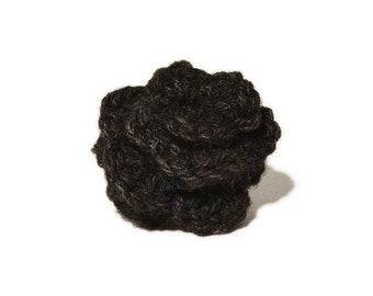 Lapel Flower Charcoal