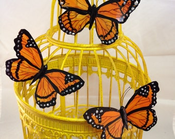 Monarch  Butterfly Brooch or Hairclip