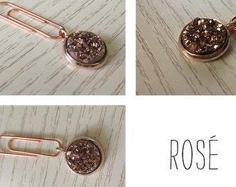 Stardust paperclip (Rosé) for your Midori / Fauxdori / Filofax / Planner