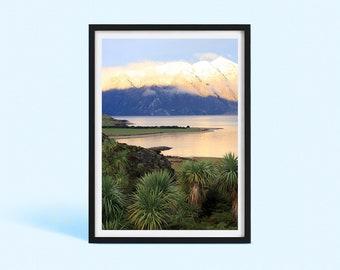 New Zealand Sunset Wall Decor | New Zealand Lake Photography | New Zealand Landscape | Nature Photography Print | Poster Print | Art Print