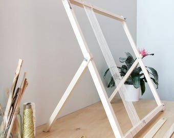 Large Weaving Loom | Loom | Woven Wall Hanging | Weaving Tools | Frame Loom|Weaving Kit | Loom with stand