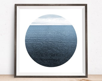 Lake Ontario, giclee print, art photography, large giclee prints, contemporary art, abstract art prints, beach photography, circle artwork