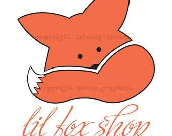 Pre Made Little Fox Logo Etsy Shop Branding