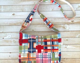Small Crossbody Bag in Madras Cotton Print
