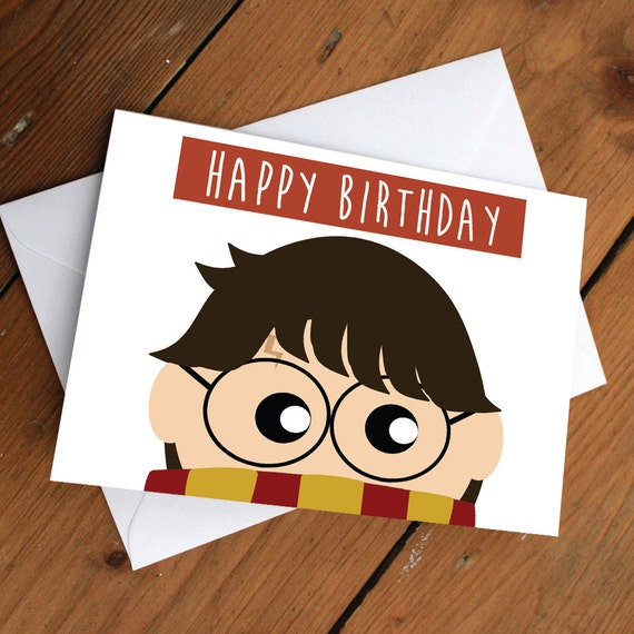 Harry potter card happy birthday love friendship cute like this item bookmarktalkfo Image collections