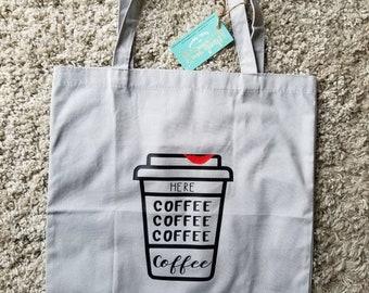 Canvas coffee tote