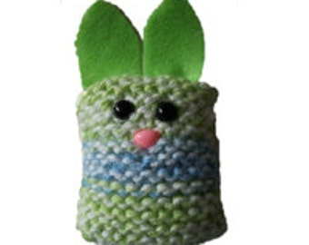 Garter Stitch Bunny PDF Knitting Pattern
