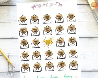 Happy Mail/ Envelope/ Package Stickers