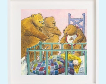 Goldilocks and the three bears print (square)