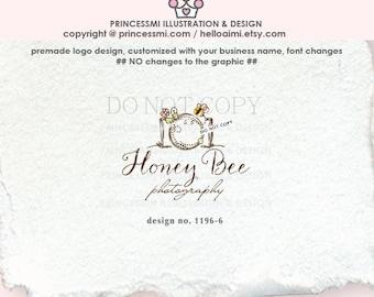 1196-6   camera logo, camera and bee, logo branding, business branding, business logo design, watermark, photography branding, cute camera