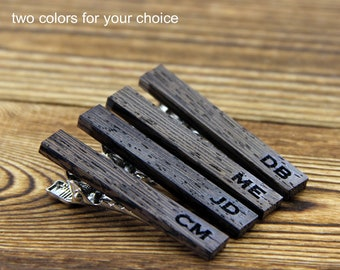 Personalized Groomsmen Gift Set Groomsman Gift Wood tie bar Personalized Wood tie clip groomsmen gift ideas Best Man Gifts for Him