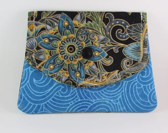 Fabric Womens Wallet, Fabric Wallet, Business Card Holder, Credit Card Holder, Holiday Gift For Her Under 20