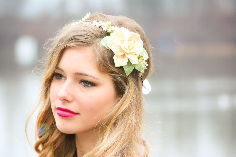 Bridal headband wedding accessories natural bridal zoom izmirmasajfo Image collections