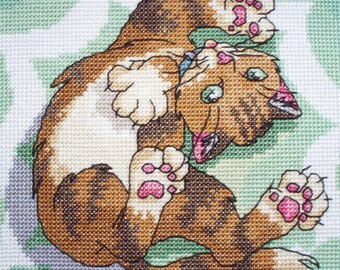 KL43 Well Crazy! Cat Counted Cross Stitch Kit by Vanessa Wells