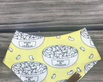 Mac & Cheesy pet bandana