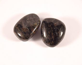High quality tumbled Arfvedsonite.  All pieces hand picked!