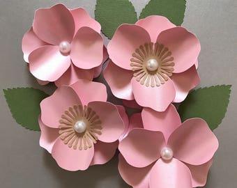 Cherry blossom paper flower template tutorialsvg pdf cricut cherry blossom paper flower paper flower template flower decor mightylinksfo Gallery