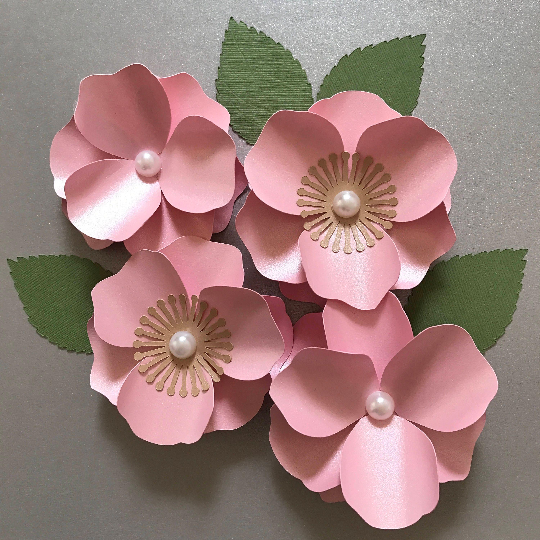 Cherry blossom paper flower paper flower template flower zoom mightylinksfo Gallery