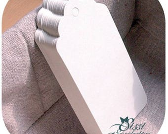LOT 25 TAG WHITE + STRING SCRAP SCRAPBOOKING SCRAP WEDDING GIFT TAGS