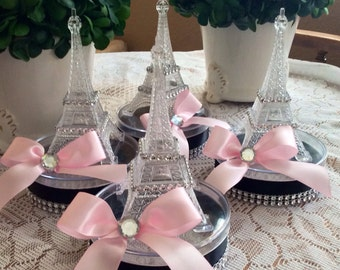 6 Eiffel Tower small centerpiece-eiffel tower party favor-eiffel tower ballon holder- paris wedding-paris baby shower-paris sweet 16 favor