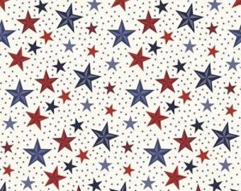 Riley Blake - Americana Stars in Cream - your choice of cut