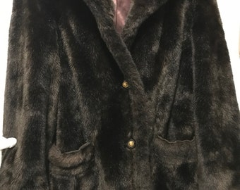 Mink coat,size S/M, deep rich brown,thick fur,evening wear, vintage coat,free shipping.