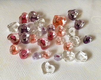 INVENTORY REDUCTION — 30 Various Handmade Artisan Glass Heart Beads