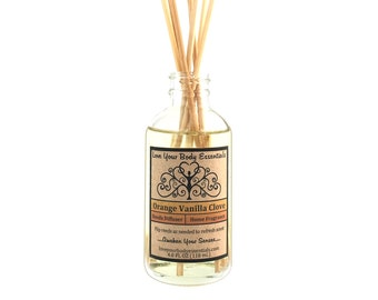Vanilla orange clove reed diffuser vanilla diffuser reed refill reed diffuser oil natural reed diffuser  kitchen diffuser home fragrance