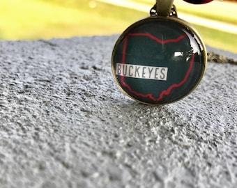 Ohio State Buckeyes Inspired Necklace