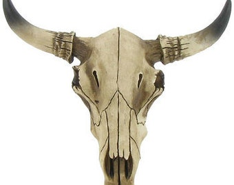 Faux Rustic Cow Skull - MINI