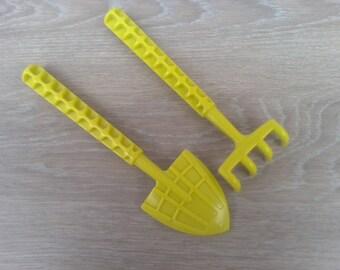 Toy shovel rake or beach decor
