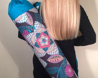 Yoga Mat Bag, Yoga Bag, Yoga Mat Carrier, Yoga Tote, Yoga Mat Bag with Optional Pocket or Key Clasp