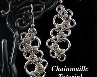 Chainmaille Tutorial for Japanese Wave Earrings PDF Instructions Only