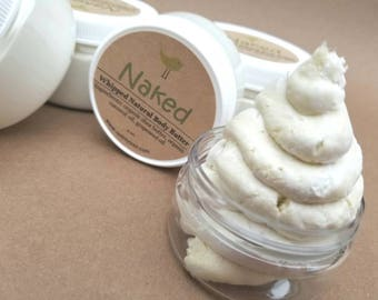 Natural Body Butter, Handmade Body Moisturizer, Whipped Body Cream, Unscented Body Cream, Moisturizing Body Lotion, 4 oz Lotion, 2 oz Lotion