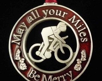 Bike Ornament | Bicyclist Ornament | Ride On Ornament |  Cyclist Gift | Biking Christmas Ornament |  Christmas Decoration
