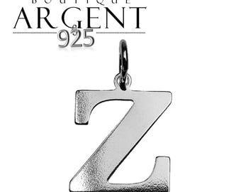Silver 925 charm letter Z initial name