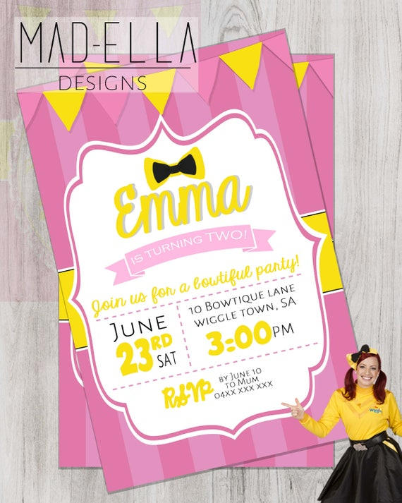 Emma Wiggle Invitation Wiggles Invitation Emma Wiggles