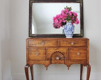 Large Vintage Mirror with Corner Medallions