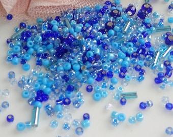 Blue seed bead seed beads, blue seed bead, Pearl lmixte, bead soup