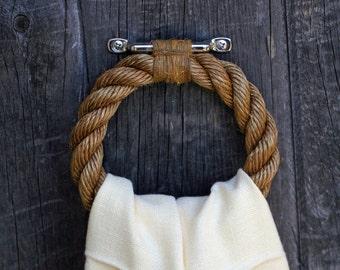 Nautical Rope Towel Ring: Manila and Hemp