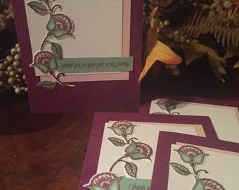 Embossed Flower Card