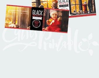 Facebook Timeline Cover - Black Friday Mini Session - Black Friday marketing template